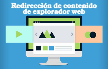La Redirección de contenido de explorador web en entorno virtual