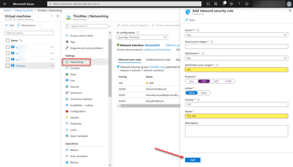 Azure communicating with ThinMan