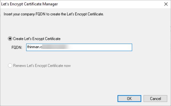 Let's encrypt certificate manager 2