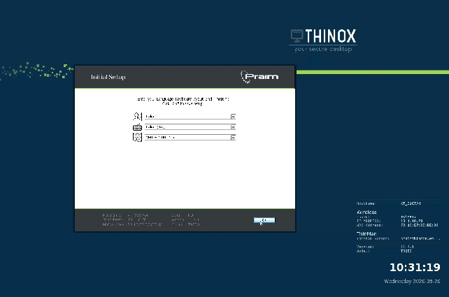 ThinOX4PC USB setup
