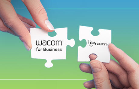 Praim announces the collaboration with Wacom