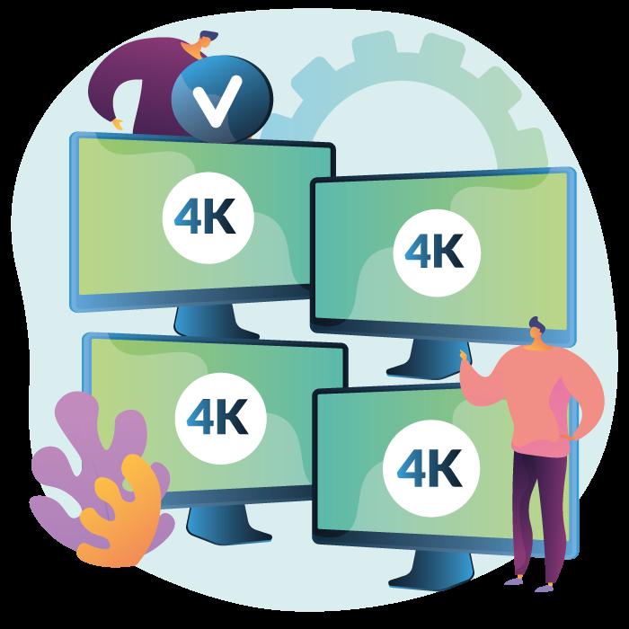 4 display 4K Quantum