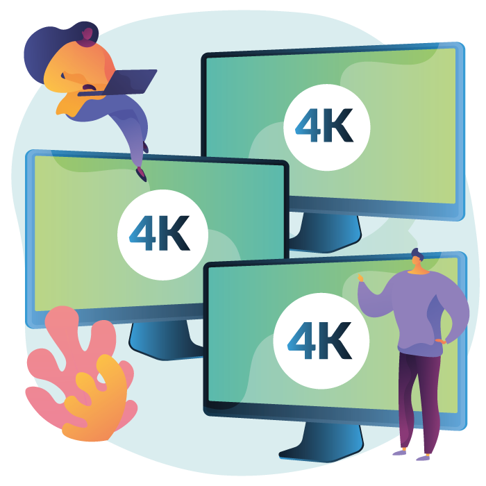 Triplo schermo 4K Edge