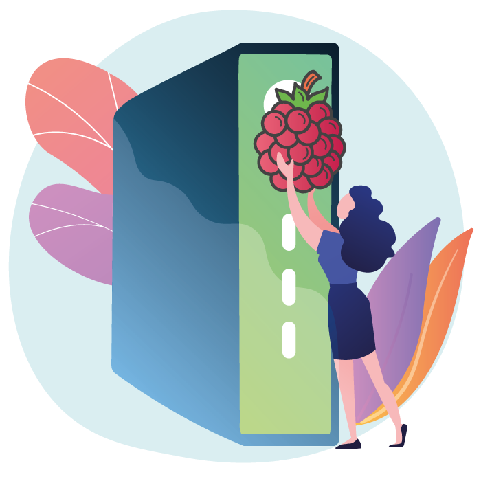 The thin client for Raspberry Pi 3 B+